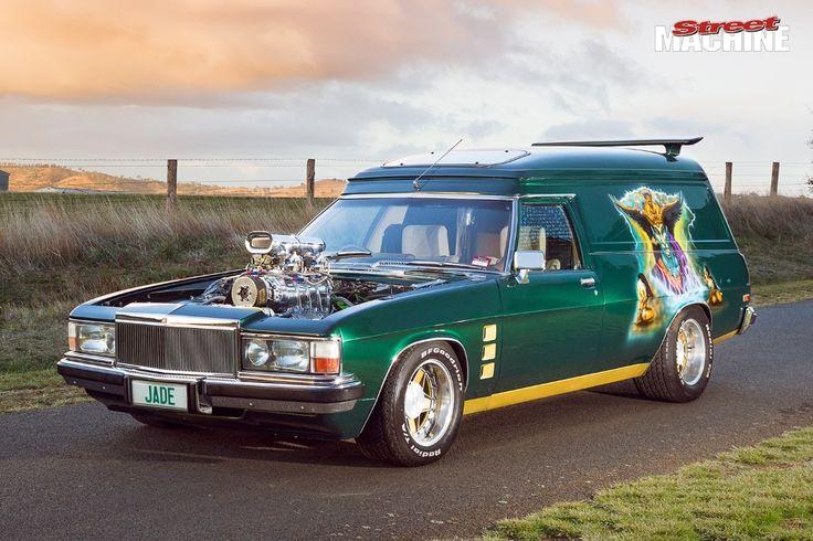 ◆ Visit MACHINE Shop Café... ◆ ~ Aussie Custom Cars & Bikes ~ ('Jade' ~ WB Holden Panel Van)