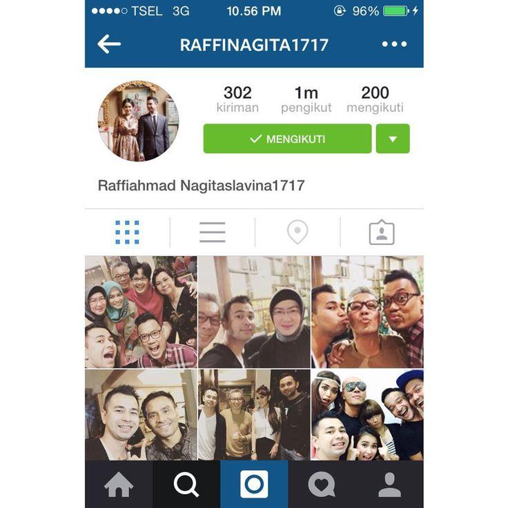 """raffi nagita di Instagram """"Yeayyyy... Ayo follow Instagramnya Raffi Ahmad & Nagita Slavina yang asli. @raffinagita1717 #raffiahmad #nagitaslavina"""""""