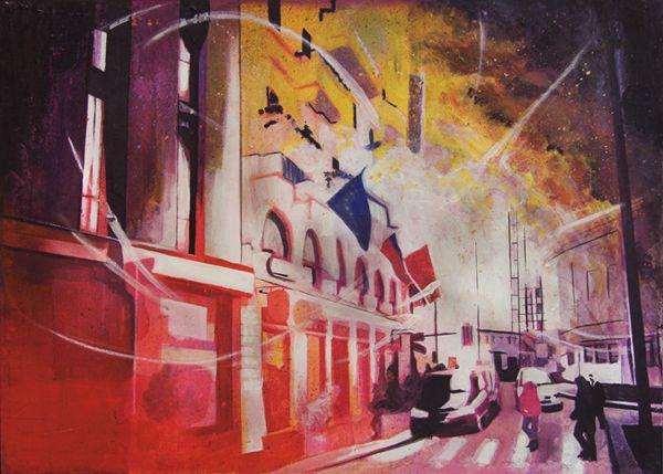 GaeTano and Valentina, ANCORA IN PIEDI, © 2012 , mista su tela, 70 x 50 cm.   #art #painting #arts #GaeTanoAndValentina #SCENOGRAPH2ART #GaeTanoeValentina #visualart #canvas #sem #AcrylicOnCanvas #acrylic #peinture #ceruleo #pittura #dipinti #monza #italy