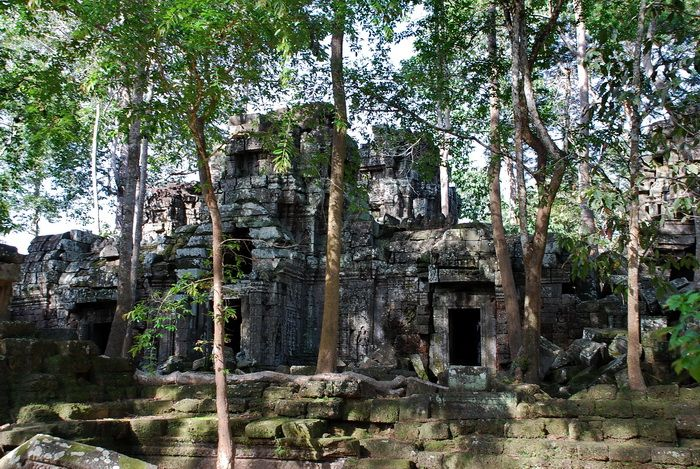 Ta Nei (Khmer: ប្រាសាទតានៃ) is a late 12th Century stone temple located in Angkor, Cambodia. Built during the reign of King Jayavarman VII, it is located near the northwest corner of the East Baray, a large holy reservoir. It was dedicated to the Buddha.