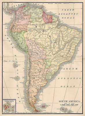 105 best maps images on pinterest maps cards and trips free vintage clip art map of south america 1901 gumiabroncs Image collections