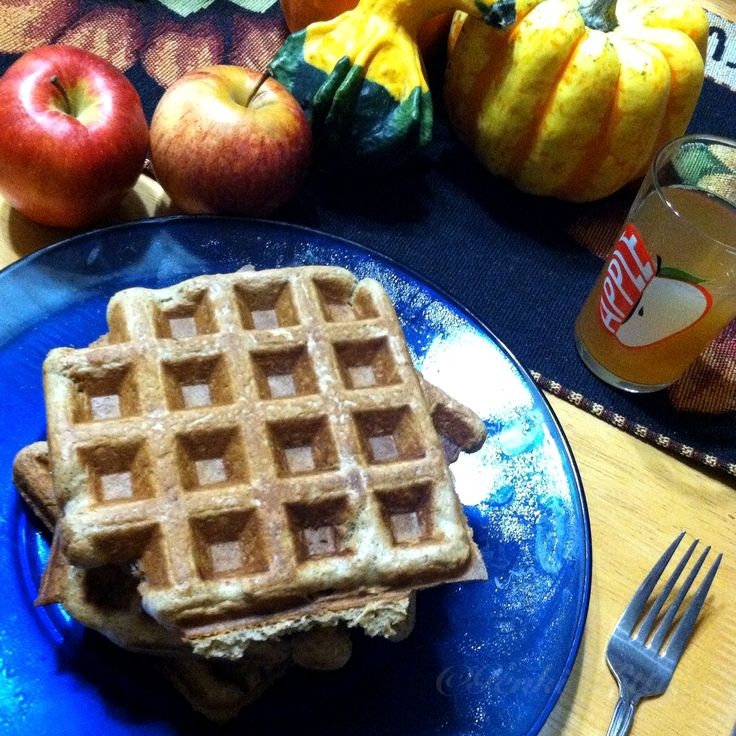 Apple Cider Waffles Recipe Vegan