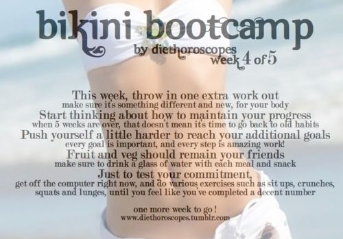 Back On Pointe, BIKINI BOOTCAMP! week four