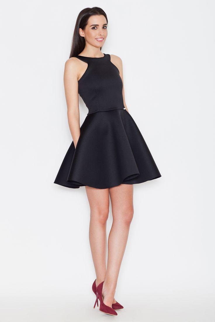 Katrus K265 Sukienka - czarny