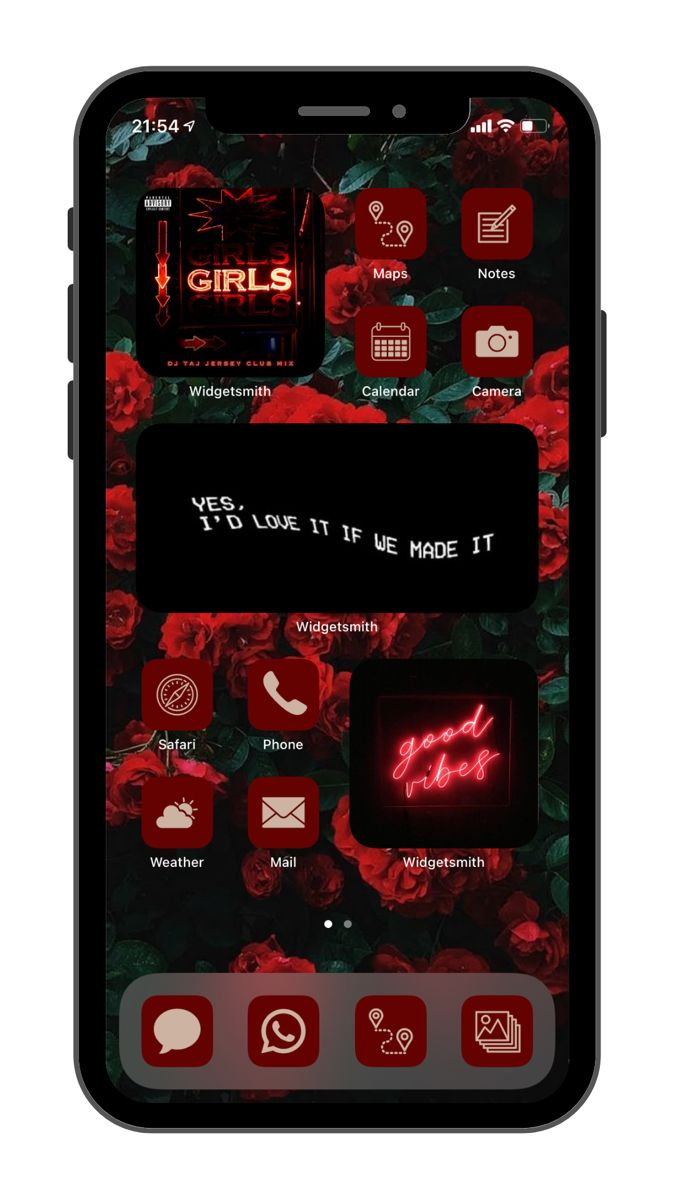 21 Red and Neutral Icons ios 21 Red Icon Set dark Red Ios 21 ...