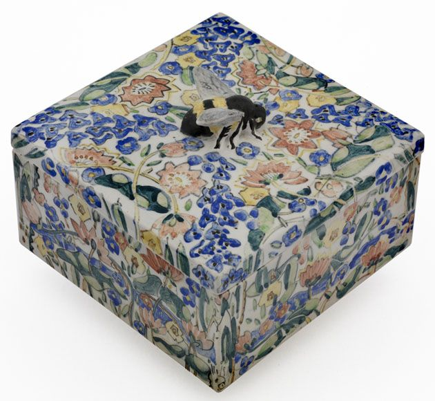 Ceramic honeycomb box, made by Jessie Marion King, Scottish </br> Reproduced by permission of Dumfries and Galloway Council and the National Trust for Scotland, as copyright holders