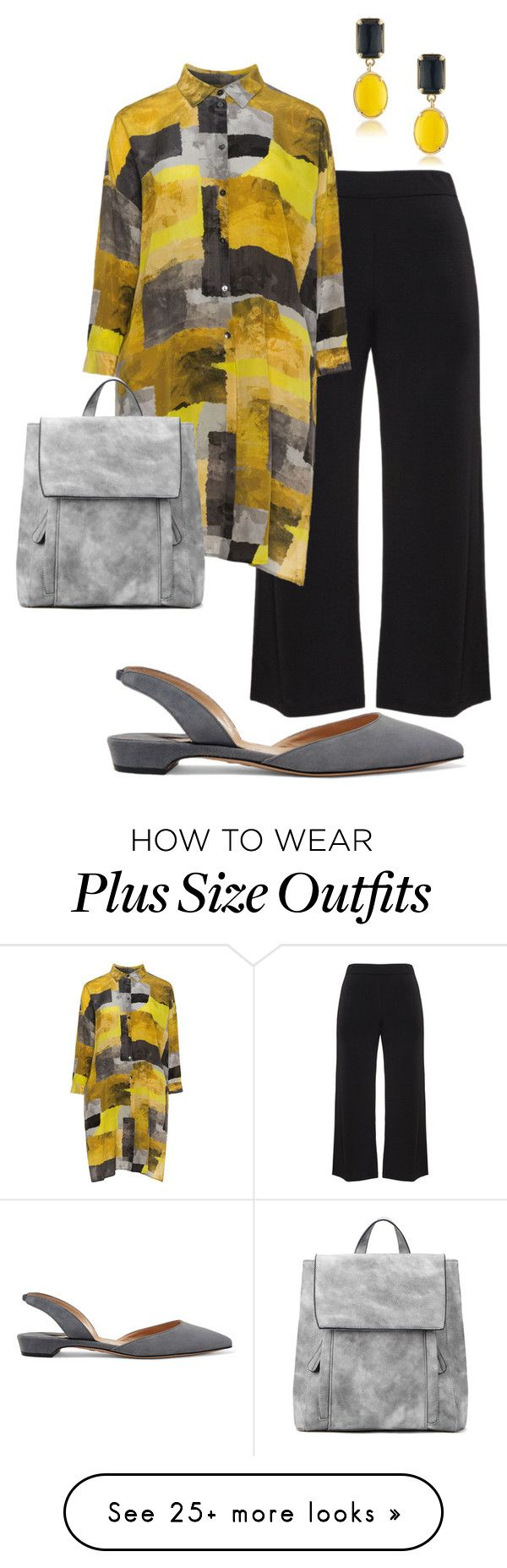 """plus size jane"" by aleger-1 on Polyvore featuring navabi, Paul Andrew and 1st & Gorgeous by Carolee"