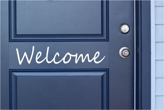 Welcome  Vinyl Lettering Word Door or Wall Art by TheVinylCompany, $6.00