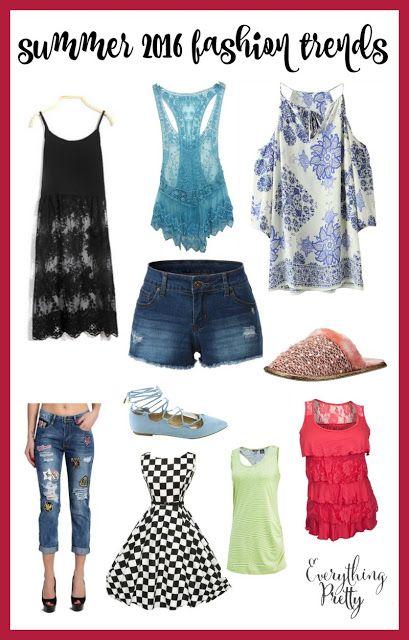 Summer 2016 Fashion Trends via www.yourbeautyblog.com