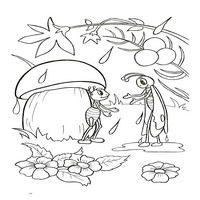 Раскраски по мотивам сказки Теремок - крокодил
