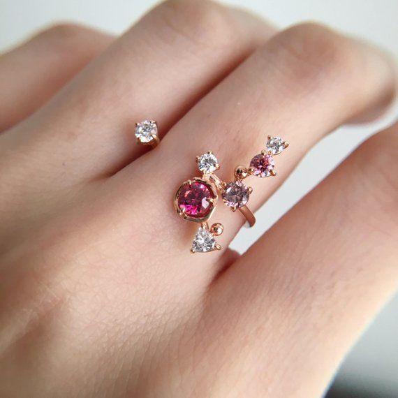 0.3 Carat Tourmaline Engagement Ring