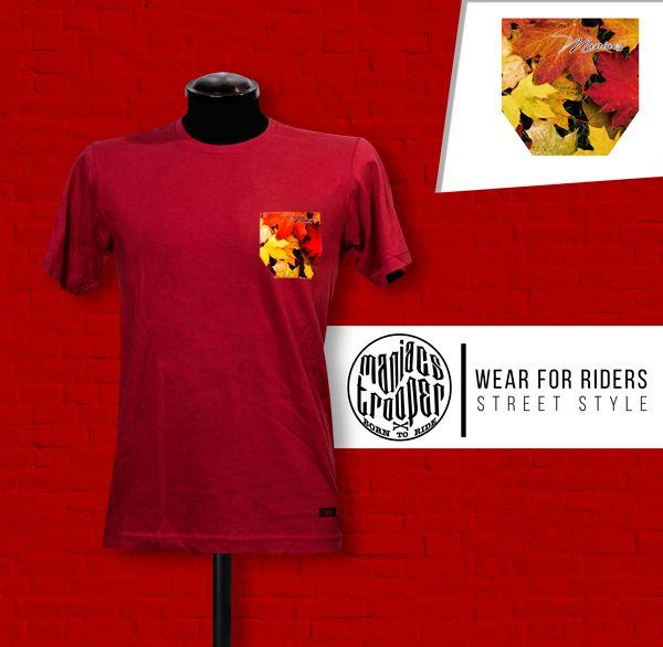 Camiseta Otoño Roja. Ropa Urbana Maniacs Trooper