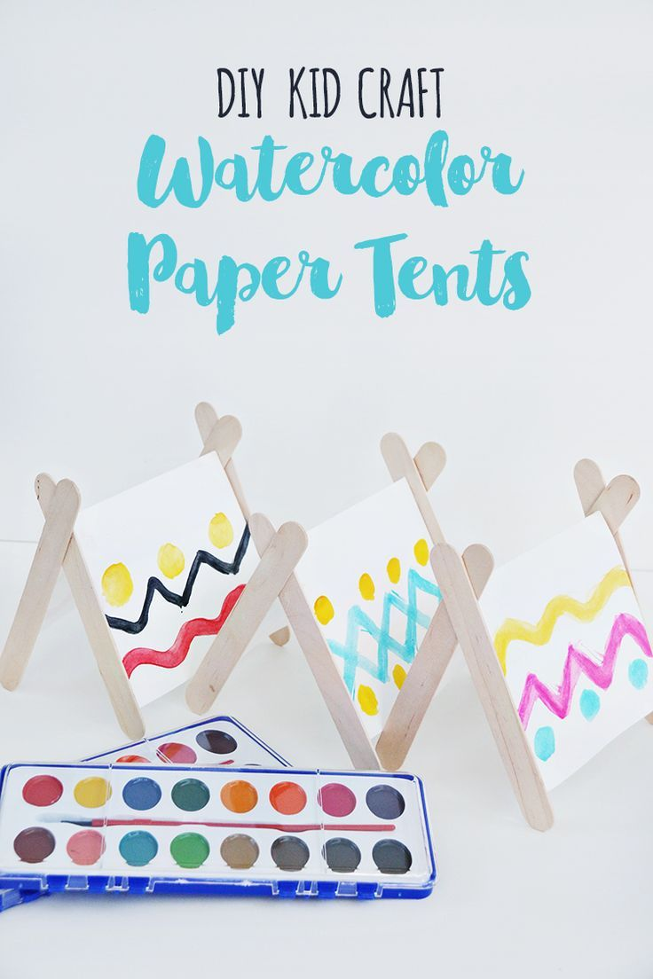 This DIY kids' craft is so fun to add to any camping party or playdate. Try making a mini tent village too with your little ones. You can add paper trees, paper people, etc. Jamie from @craftingchicks shares the step-by-step on our blog.