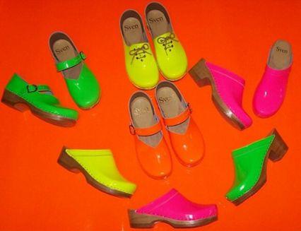 Sven Clogs - Google+ Neon Clogs - Sven Clogs - $89.00 or $105.00 http://www.svensclogs.com/catalogsearch/result/index/?limit=32&q=neon