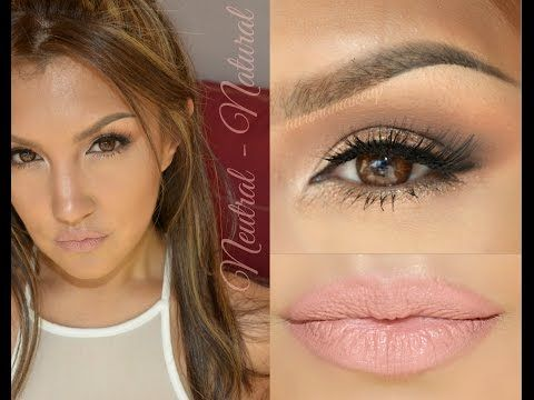 Look Neutral Natural (all face makeup) - YouTube