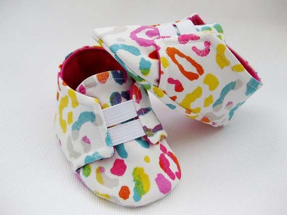 Baby girl shoes neon animal print shoes baby by allthingsforbaby, $29.00