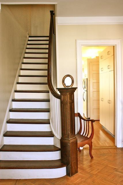 White Stair Risers — How To Paint Them and Keep Them Clean