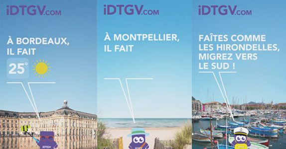 IDTGV innove avec un affichage digital sensible à la météo