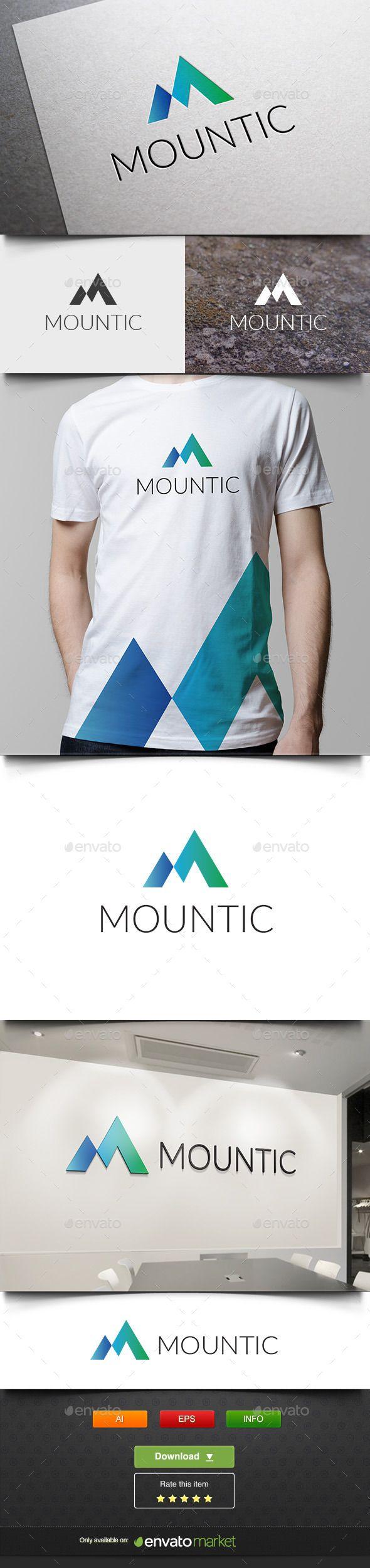 Mount Ice - Logo Design Template Vector #logotype Download it here: http://graphicriver.net/item/mount-ice/11825768?s_rank=1072?ref=nexion