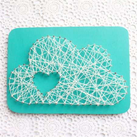 Heart in the Clouds - String Art