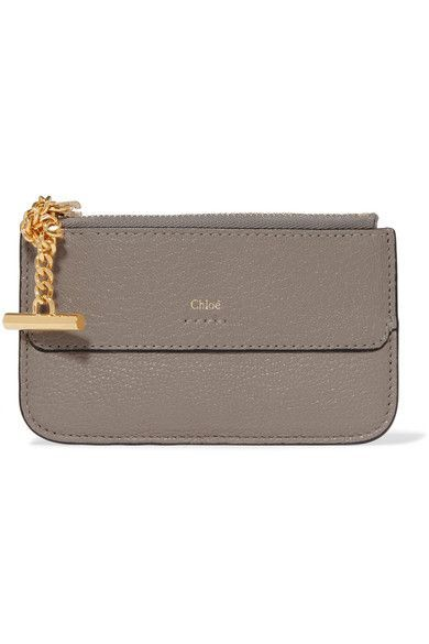 Chloe Drew Textured Leather Cardholder