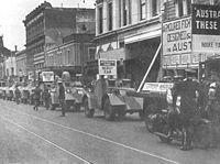 Austerity loan demonstration, Chapel Street, Prahran, ca. 1942.