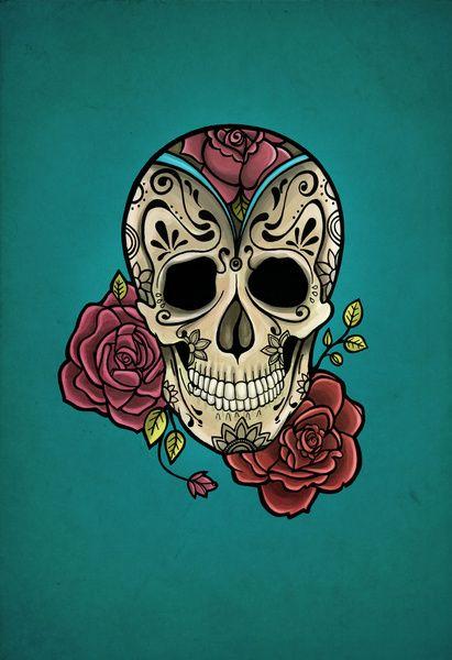 Mexican Skull Art Print by NathalyBonilla | Society6