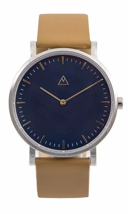 The Intro Blue / Silver / Gold Accent / Camel Leather by Medium.