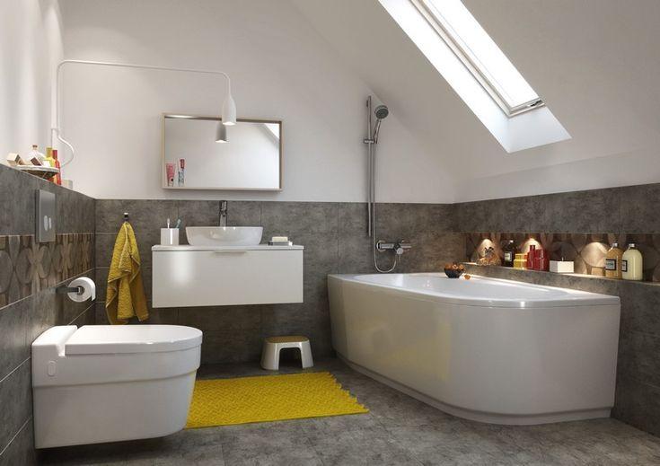Les 25 meilleures id es de la cat gorie salles de bains gris jaune sur pinterest salle grise for Salle de bain jaune et blanc
