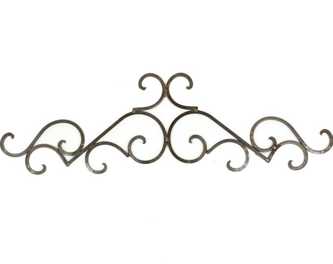 Small Iron S Scroll Door Topper Architectural Wall Garden 37x4
