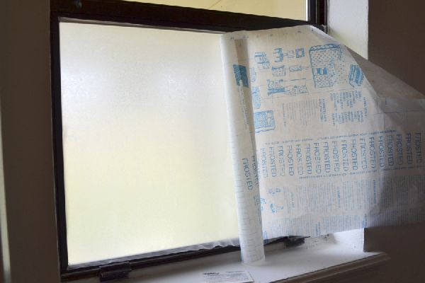 Easy Diy Frosted Window For Privacy Temporary Window