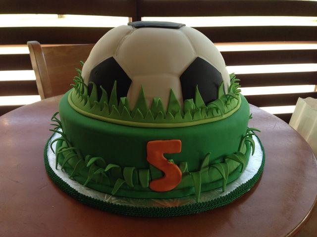 Soccer cake #soccer #cake