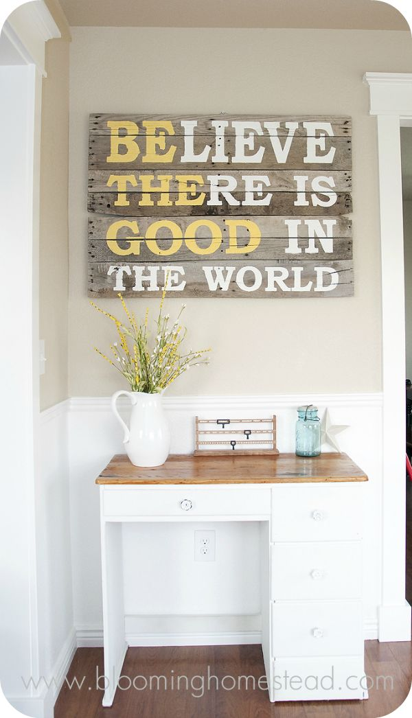 DIY Wall Art ................Pallet Wood