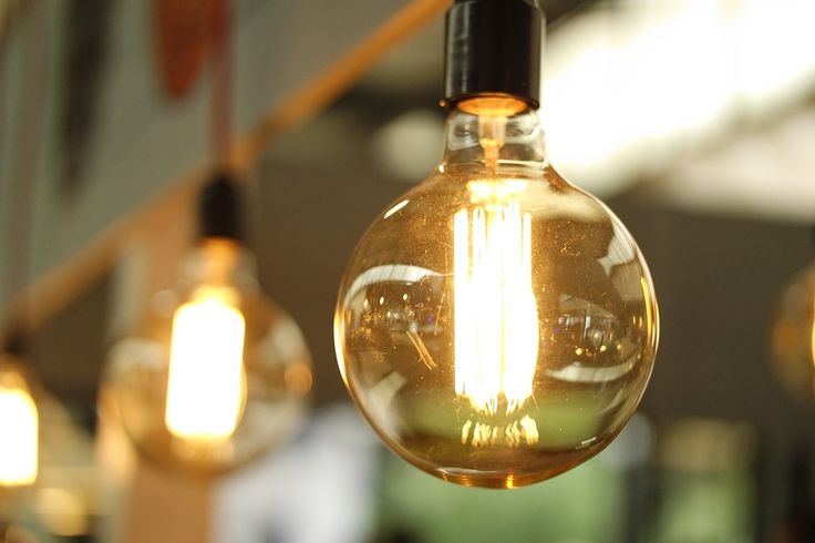 Antique light bulbs add a beautiful, warm glow to any space. #lighting