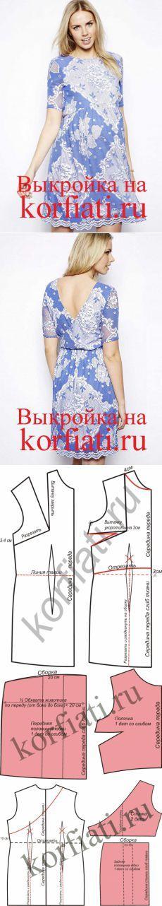 Выкройка платья для беременных от ШКОЛЫ ШИТЬЯ Анастасии Корфиати...<3 Deniz <3