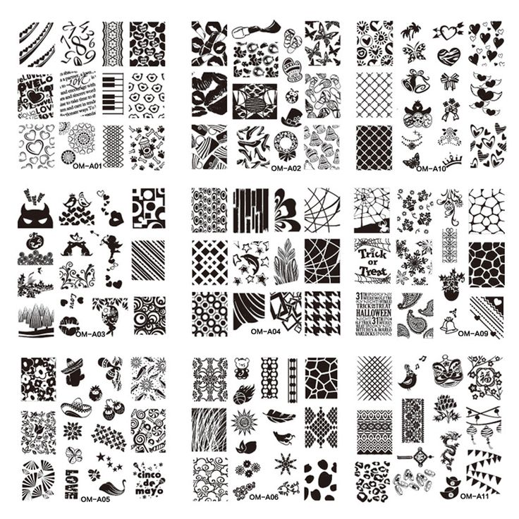 Mejores 65 imágenes de Plate stamping nail en Pinterest