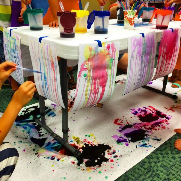 Little Makers: gravity painting | Let the wild rumpus start Adventures of a Children's Librarian