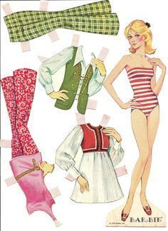 Anyone remember paper dolls? Ahhh, the memories. Many summer evenings spent in the living room floor playing with these.