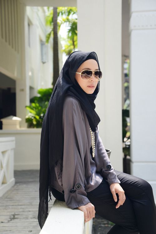 casual and easy #hijab #hijabi #style #fashion