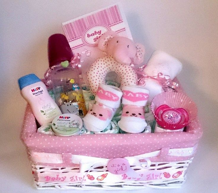 unsere geschenkkorb babygirl besteht aus korb 29 20 13 15 windeln baby flasche baby socken. Black Bedroom Furniture Sets. Home Design Ideas
