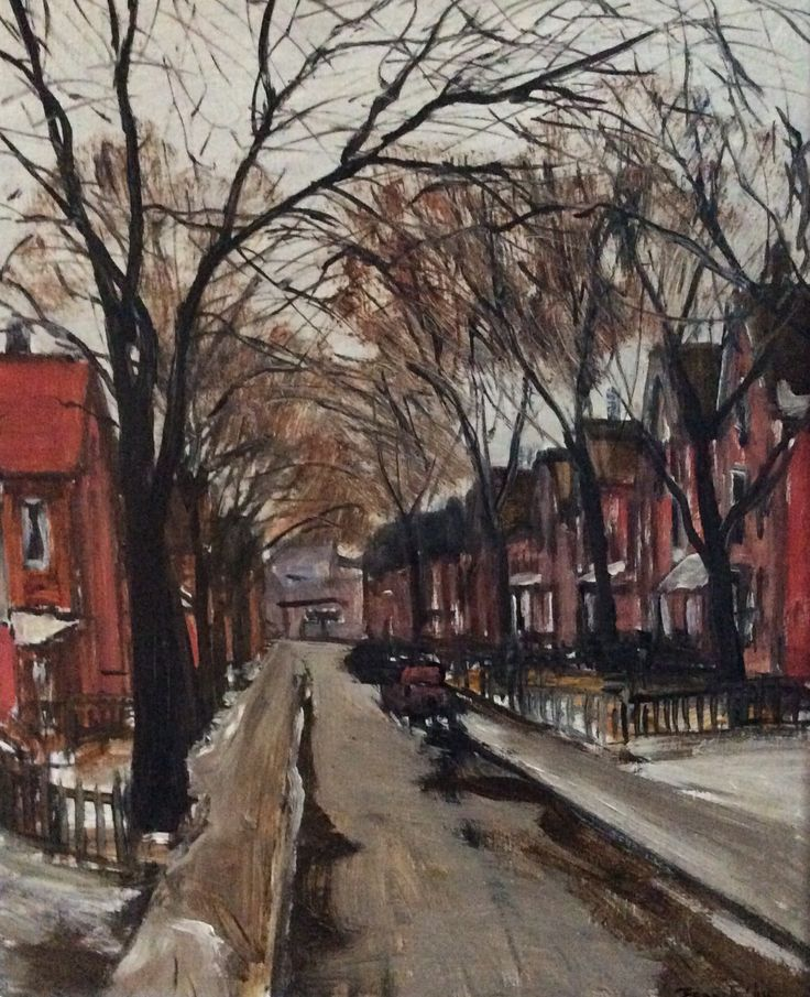 """My Albert Jacques Franck called """"Street in Spring"""" . This is my favourite painting."""