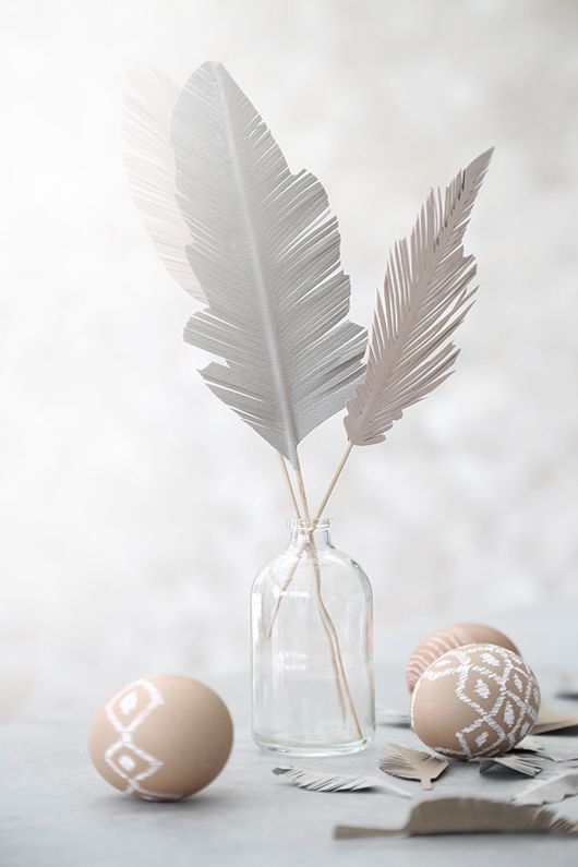 Easter feathers made of paper