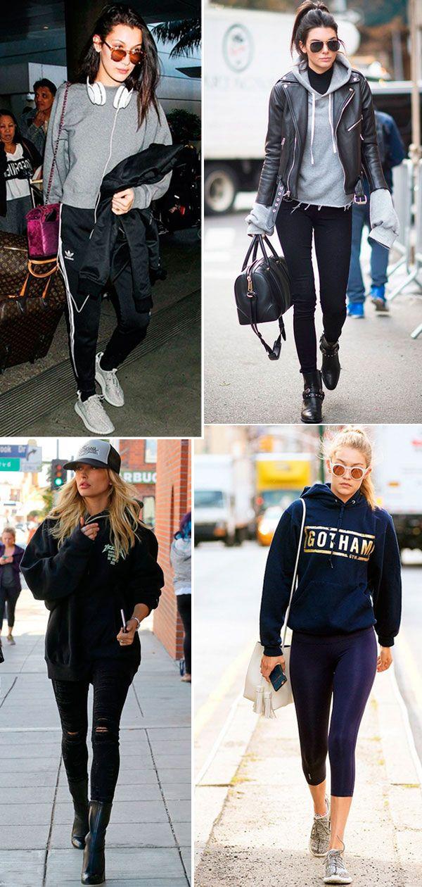 Street style look Hailey Baldwin, Kendall Jenner, Bella e Gigi Hadid.