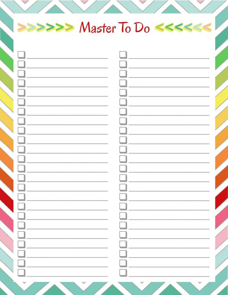 220 Best Free Printable To Do Lists & Lists Images On Pinterest