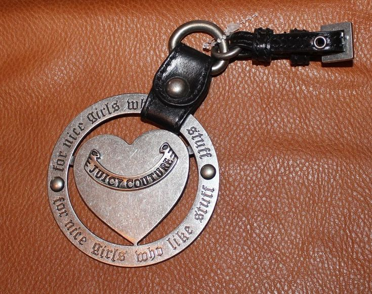 Juicy Couture Keychain Key Fob Handbag Purse Large Metal Charm FREE SHIPPING #JuicyCouture