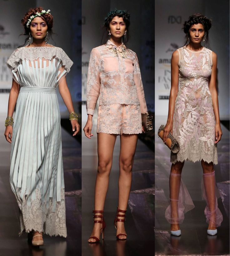 The modern Lolita at Geisha Designs by Paras & Shalini #SS16 #aifw #runway #trends #fashion #classic #nowtrending #lace