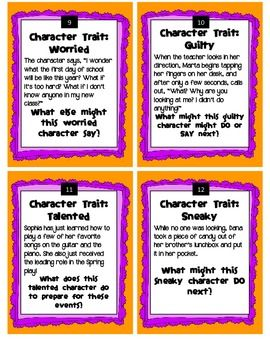 Character Traits Writing Task Cards FREE