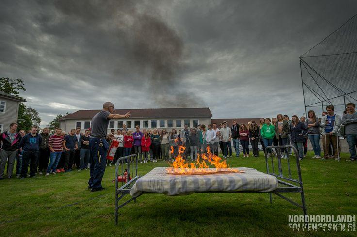 Brannøvelse, Nordhordland Folkehøgskole