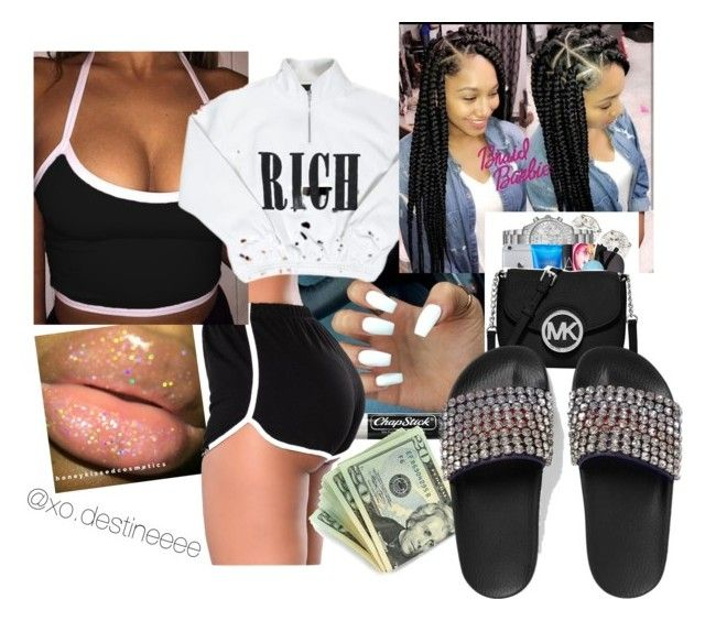 Lit Night by xo-destineeee on Polyvore featuring polyvore fashion style Gucci Cotton Candy Chapstick clothing