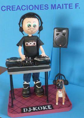 FOFUCHAS. Manualidades y Creaciones Maite: FOFUCHO DJ PERSONALIZADO CON PERRO